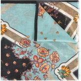 Etro floral print scarf - women - Silk/Wool - One Size