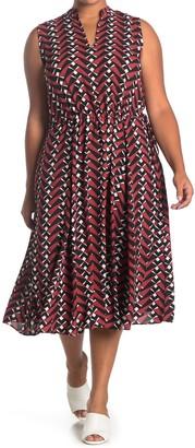 Anne Klein Broadway Light Drawstring Midi Dress (Plus Size)