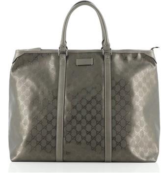 Gucci Joy Zip Top Tote GG Imprime Medium