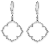 Marion Cage Clover Drop Earrings - Sterling Silver