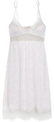 Eberjey Sweet Heart The Classic Lace-trimmed Printed Stretch-modal Chemise