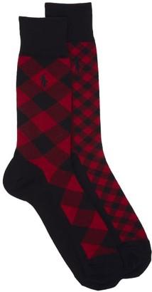 Polo Ralph Lauren Buffalo Check Dress Socks 2-Pack