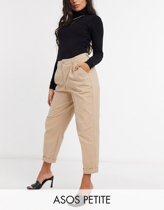 ASOS DESIGN Petite hourglass chino pants in stone