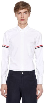 Thom Browne Striped Arm Band Cotton Oxford Shirt