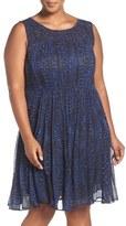 Lucky Brand Geo Print Sleeveless Dress (Plus Size)