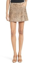Joie Women's Rodgers Leopard Print Suede Miniskirt