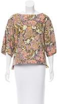 Suno Silk Floral Top