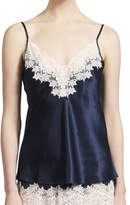 Ginia Silk Camisole With Lace