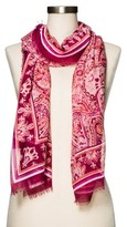 Merona Women's Burgundy Paisley Fashion Scarf