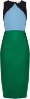 Diane von Furstenberg Colour-block stretch-wool dress