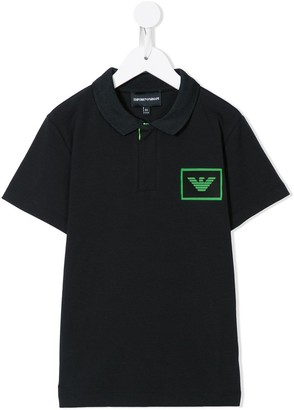Emporio Armani Kids Logo Patch Polo Shirt