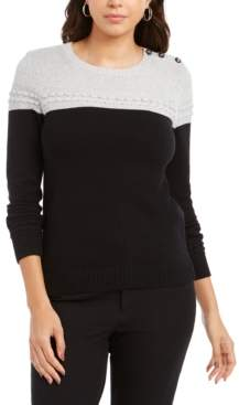 Charter Club Petite Lurex Knit Sweater, Created For Macy's