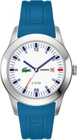 Lacoste Men's Seattle 2010630 Blue Rubber Analog Quartz Watch with Dial