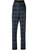 Cédric Charlier checked high waist trousers