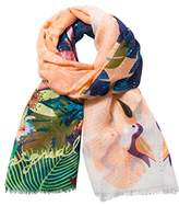 Desigual Women's Rectangle Tropical Scarf