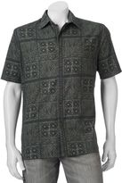 Croft & Barrow Big & Tall Classic-Fit Patterned Crosshatch Button-Down Shirt