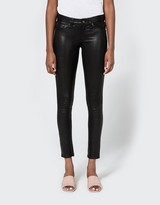 Rag & Bone Leather Skinny in Washed Black