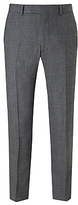 Richard James Mayfair Milled Prince Of Wales Check Suit Trousers, Charcoal