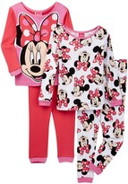 AME Minnie Mouse Smile Pretty Cotton PJs - Set of 2 (Little Girls & Big Girls)