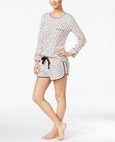 Kate Spade Piping-Trimmed Printed Pajama Set