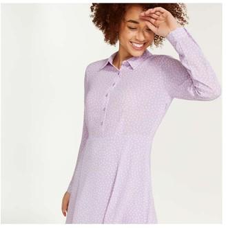 Joe Fresh Women's Crepe Shirtdress, Lilac (Size 10)