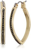 """Laundry by Shelli Segal Melrose Place"""" Textured Marquis Hoop Earrings"""