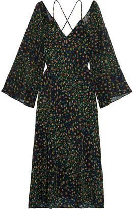 Rixo Linda Open-back Floral-print Silk-chiffon Midi Dress