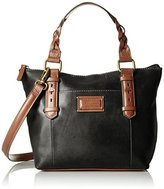 Tignanello Borough Vintage Leather Mini Tote Convertible Cross Body