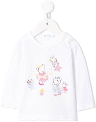 Familiar Teddybear print long sleeve top