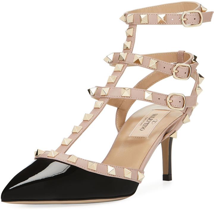 Damen Slingpumps Blockabsatz Mid Heels Slingback Pumps Klassisch 898807 Mode