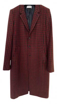 Balenciaga Burgundy Wool Coats