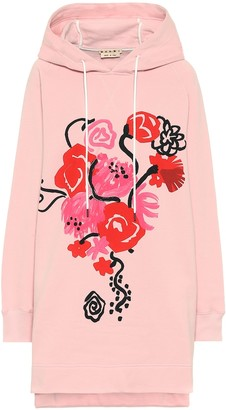 Marni Floral hooded cotton-jersey dress