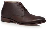 Jeff Banks Dark Brown Tumbled Chukka Boots