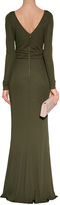 Emilio Pucci Olive Cut-Out Jersey Evening Gown
