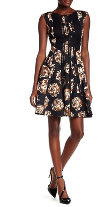 Taylor Crochet Embellished Scuba Fit Dress