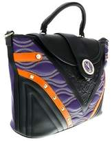 Versace Ee1vobbk1 Emgh Black/purple Top Handle.