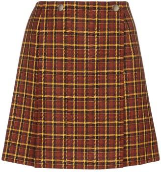 Plan C check pleated skirt