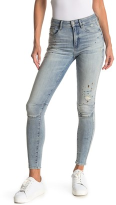 G Star Biwes High Rise Distressed Skinny Jeans