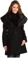 Ivanka Trump Exaerated Faux Fur Collar Coat Women's Clothin