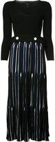 Derek Lam striped panel dress - women - Polyester/Viscose - S