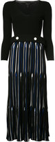 Derek Lam striped panel dress - women - Polyester/Viscose - XS