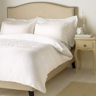 John Lewis & Partners Soft and Silky Danielle Embroidered Cotton Bedding, White