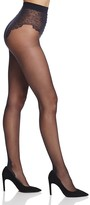 Pretty Polly Lace Top Back Seam Tights