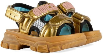 Gucci Kids Chunky Leather Sandals