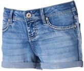Hydraulic Juniors' Bailey Embellished Denim Shortie Shorts