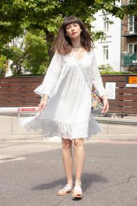 Dream Corfu Dress Ecru - S