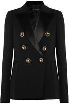 Versace Embellished Satin-Trimmed Silk-Crepe Blazer
