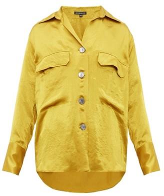 Ann Demeulemeester Loose Fit Satin Shirt - Mens - Yellow