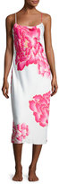Natori Peony Long Satin Nightgown, Multi Pattern