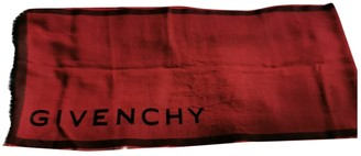 Givenchy Burgundy Wool Scarves